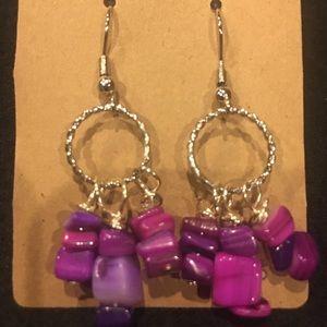 Fuchsia Stone Earrings
